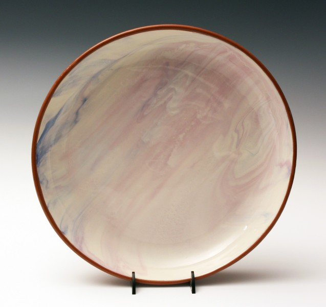 Milky pink marble plate 11 1/4