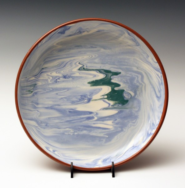 Blue & green marble plate 10